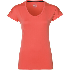 asics Capsleeve Top Women coralicious heather